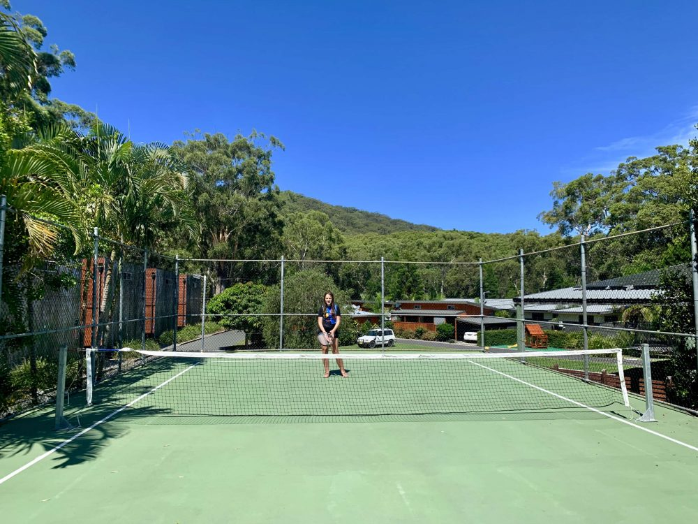 Don't forget your tennis racquets for roof-top tennis!