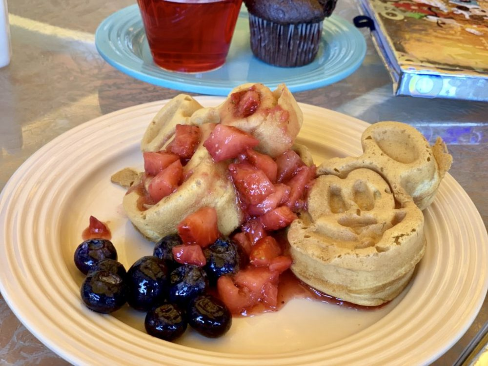 Mickey pancakes are just one of the Disney themed foods!