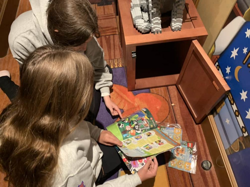 LEGOLAND California Hotel - Spoiler alert - There are Lego set gifts inside the locked box in your room!