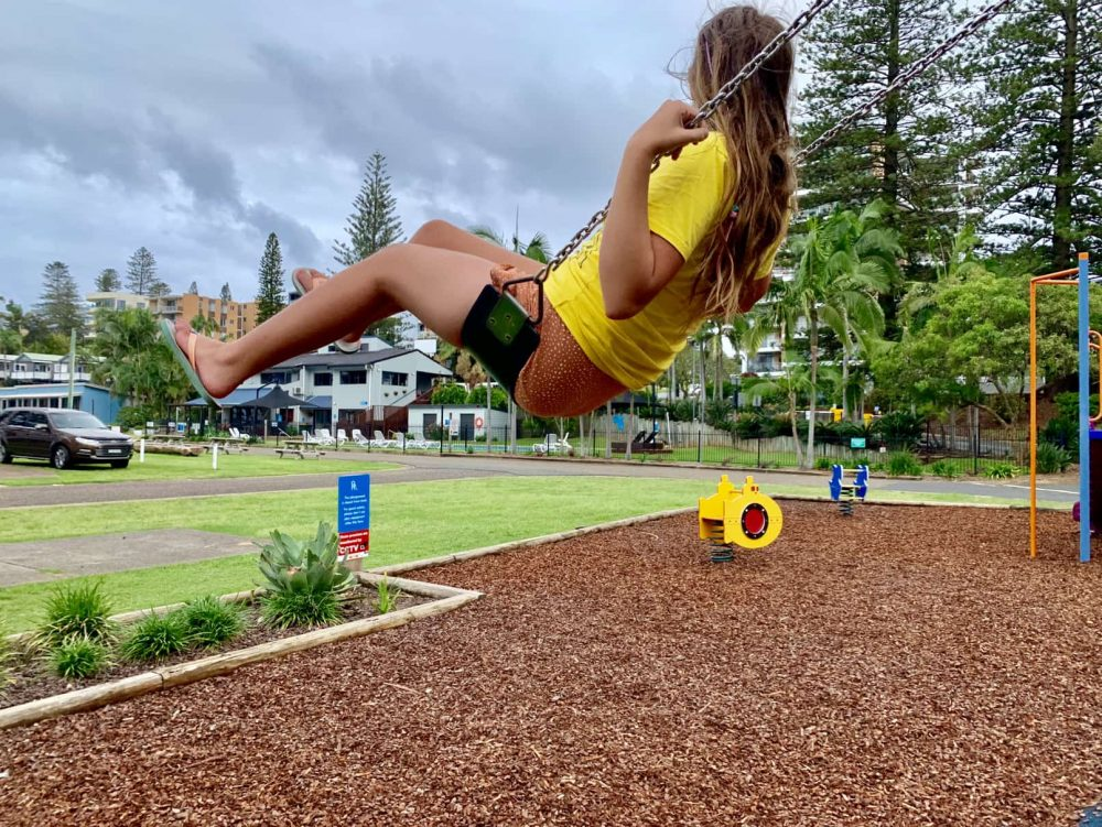The caravan park playground