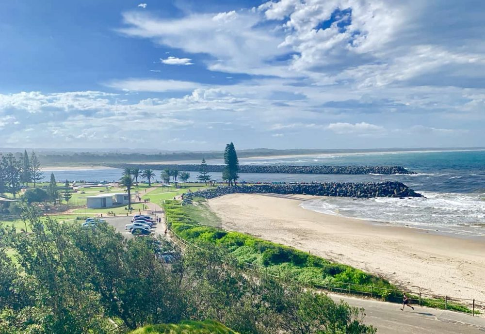 The Port Macquarie Town Beach is just a stroll down the Breakwall