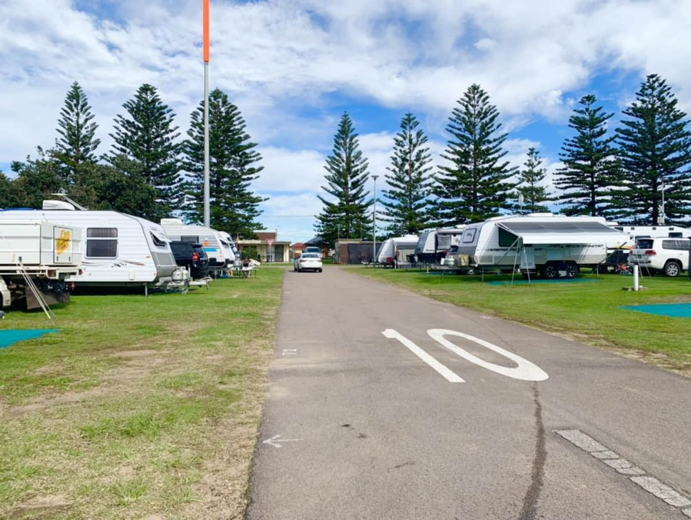The holiday park has paved, speed-limited roads