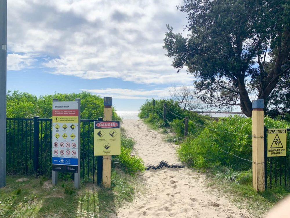 NRMA Stockton Beach Holiday Park beach path