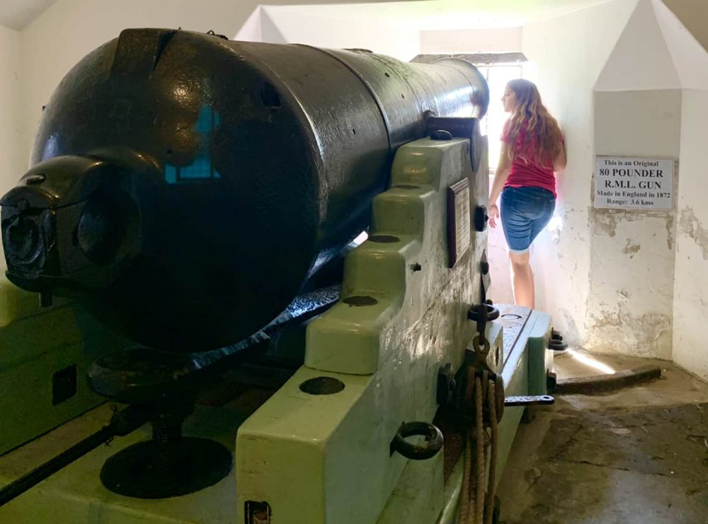 Fort Scratchley has guns, underground tunnels & guided tours