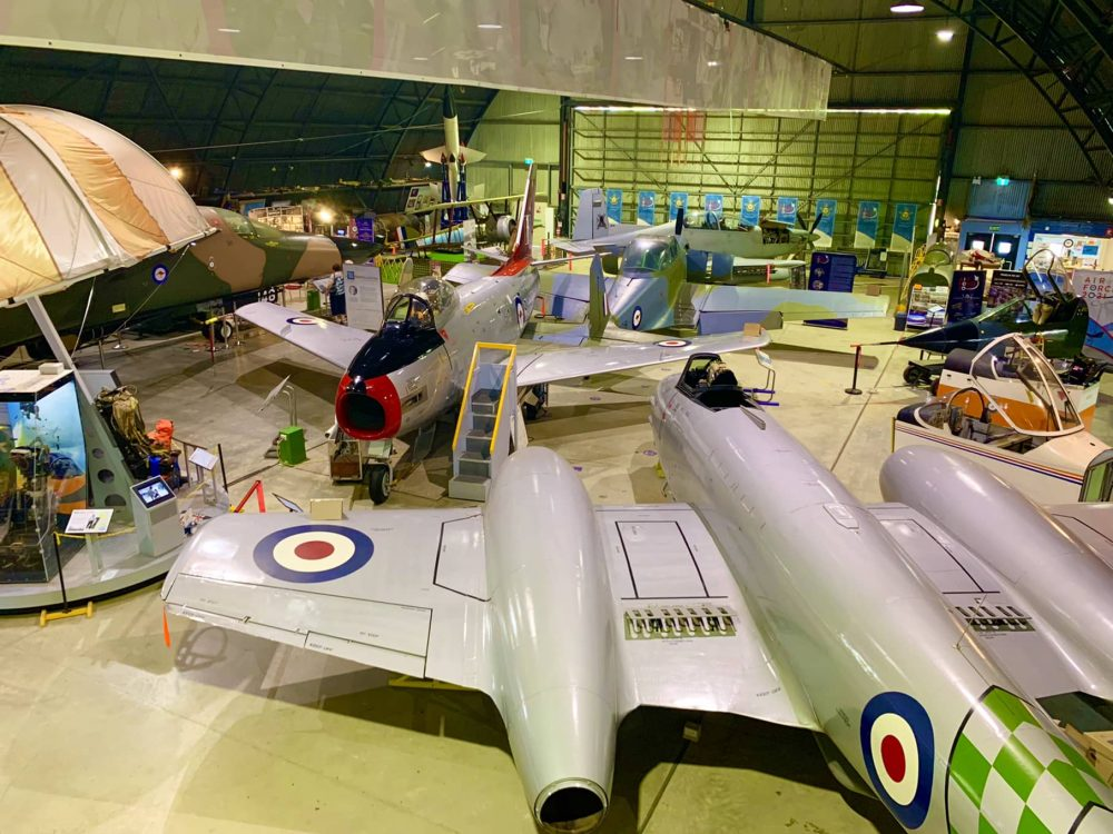 The Fighter World hangars are full of military aircraft