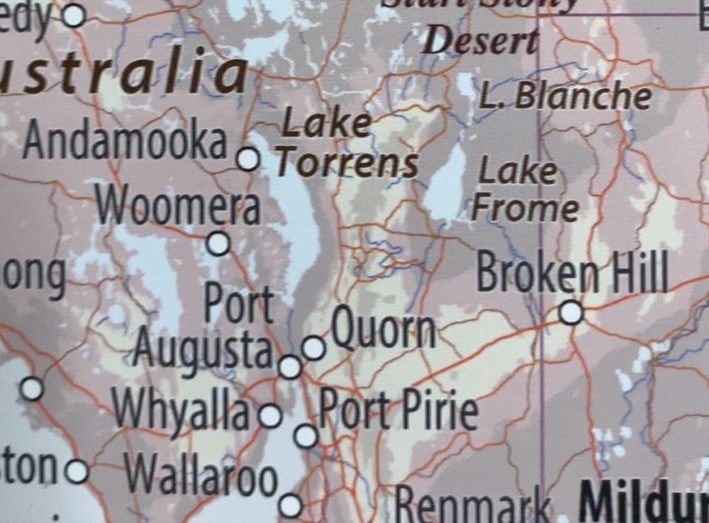 Australia map detail