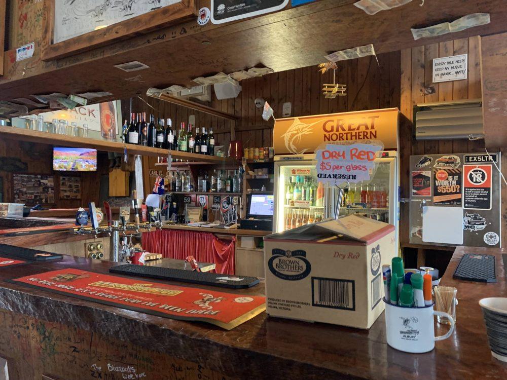 The bar at the Ettamogah Pub